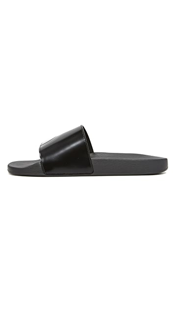 Salvatore Ferragamo Dash Leather Slides