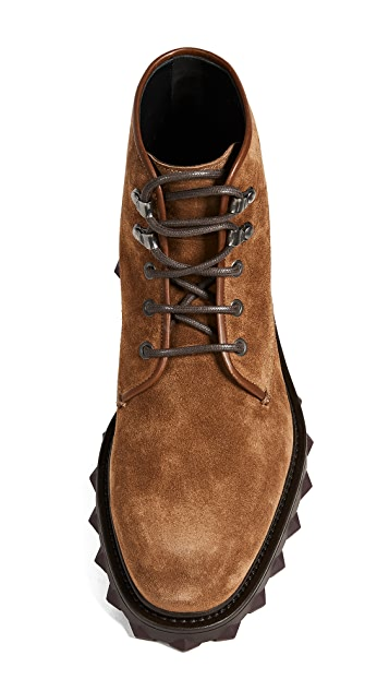 Salvatore Ferragamo Denver Suede Hiking Boots