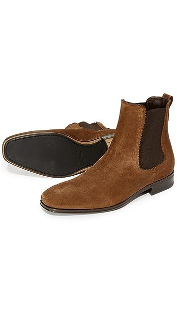Salvatore Ferragamo Darien Suede Chelsea Boots