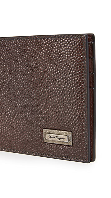 Salvatore Ferragamo Caviar Leather Wallet with Smooth Interior