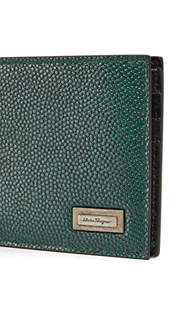Salvatore Ferragamo Caviar Leather Wallet with Smooth Interior