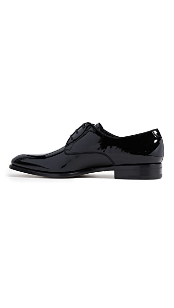 Salvatore Ferragamo Charles Patent Lace Up Shoes