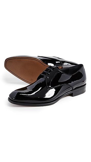 Salvatore Ferragamo Charles Patent Lace Up Shoes