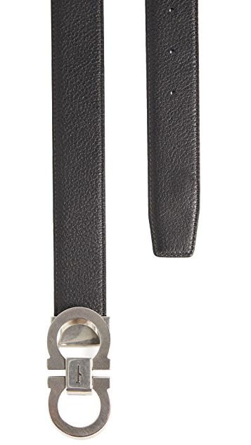 Salvatore Ferragamo Double Gancio Adjustable Reversible Belt