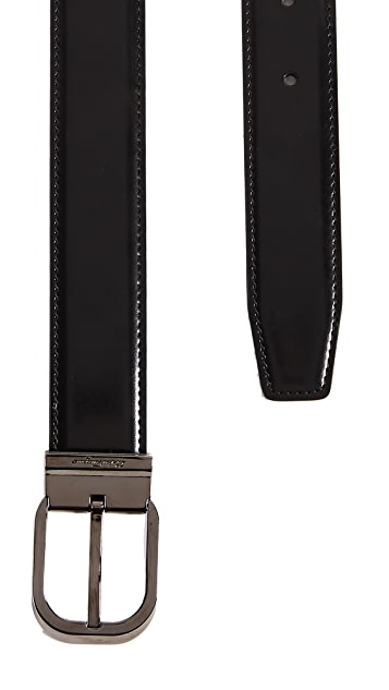 Salvatore Ferragamo Square Adjustable Reversible Belt