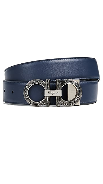 Salvatore Ferragamo Double Gancio Adjustable Belt