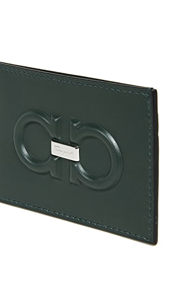 Salvatore Ferragamo Firenze Logo Card Case