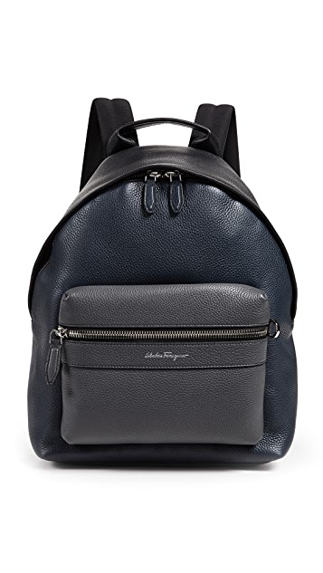 Salvatore Ferragamo Firenze Leather Backpack