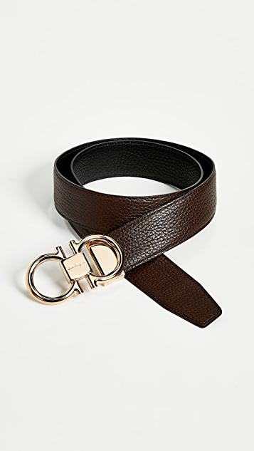 Rose Gold Double Gancio Reversible Belt