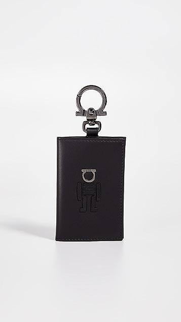 Salvatore Ferragamo Gancio Man Card Case Keychain