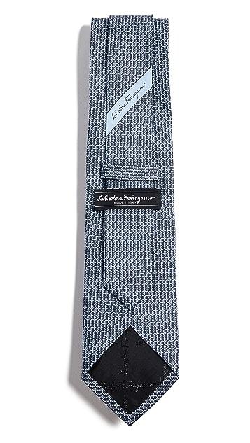 Salvatore Ferragamo Gancio Print Tie