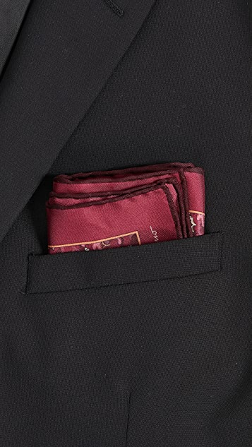 Salvatore Ferragamo Squirrel Pocket Square