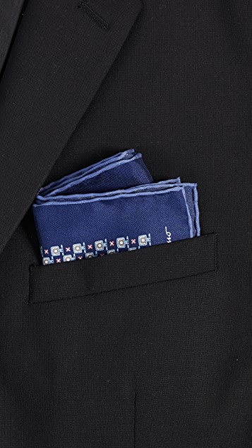 Salvatore Ferragamo Gancini Pocket Square