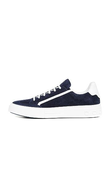 Salvatore Ferragamo Borg 2 Suede Sneakers