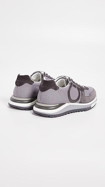 Salvatore Ferragamo Brooklyn 2 Mixed Media Runner Sneakers
