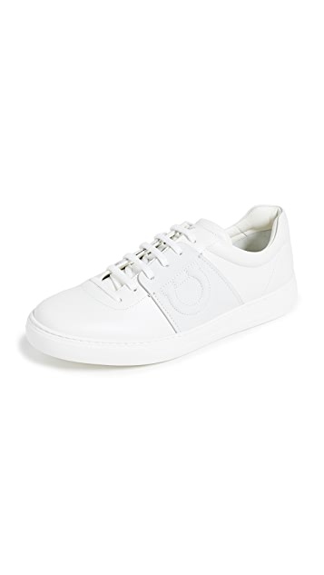 Salvatore Ferragamo Cult Leather Sneakers