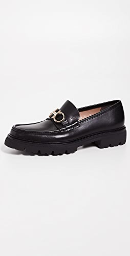 Salvatore Ferragamo - Bleecker Lug Sole Gancini Loafers