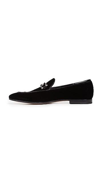Salvatore Ferragamo Boy 2 Velvet Loafers