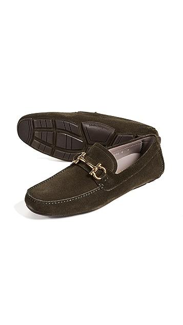 Salvatore Ferragamo Parigi Bit Suede Driver Shoes