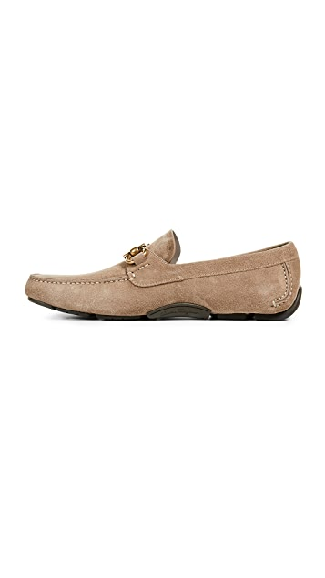 Salvatore Ferragamo Parigi Bit Suede Driver Shoes