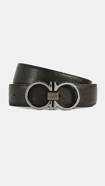 Salvatore Ferragamo Double Gancini Reversible Belt