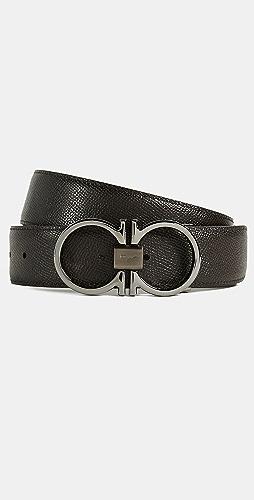 Salvatore Ferragamo - Double Gancini Reversible Belt