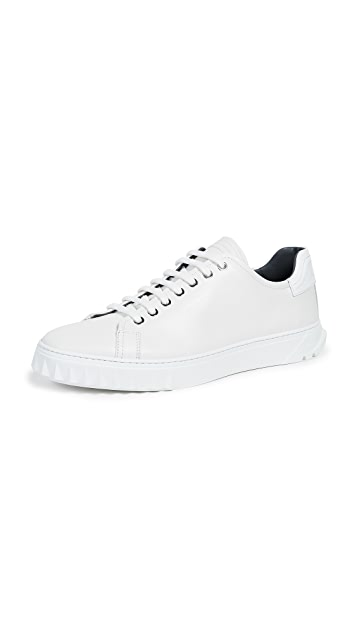 Salvatore Ferragamo Cube Lace Up Sneakers