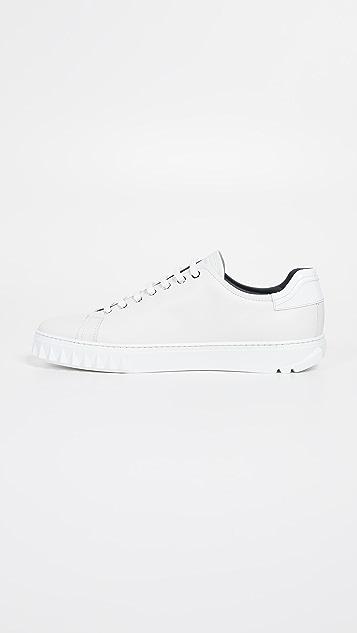 Salvatore Ferragamo Cube Lace Up Sneakers