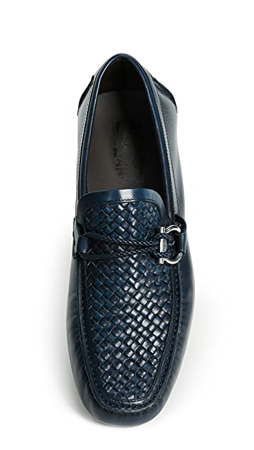 Salvatore Ferragamo Front Side Bit Woven Loafers