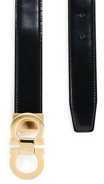Salvatore Ferragamo Double Gancini Reversible Adjustable Belt