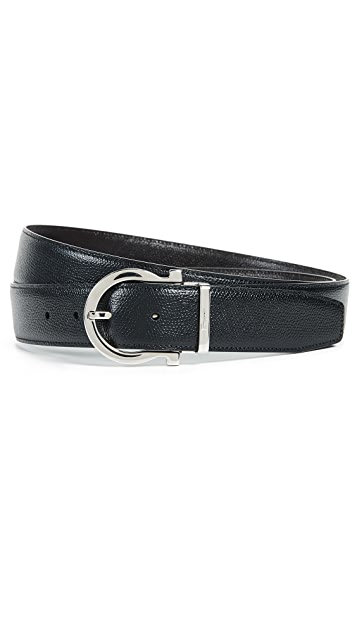 Salvatore Ferragamo Gancini Adjustable Reversible Belt