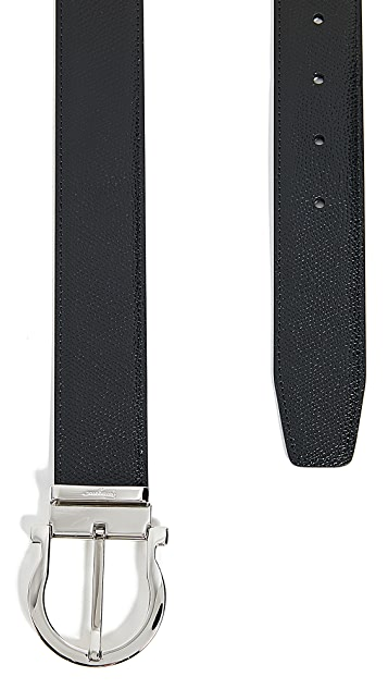 Salvatore Ferragamo Gancini Adjustable Reversible Belt