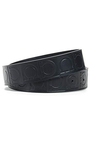 Salvatore Ferragamo Sized Double Gancini Belt