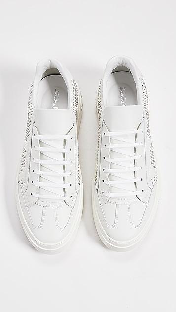 Salvatore Ferragamo Borg 3 Studded Sneakers