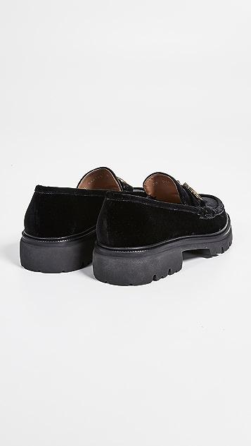 Salvatore Ferragamo Bleecker Velvet Gancini Loafers