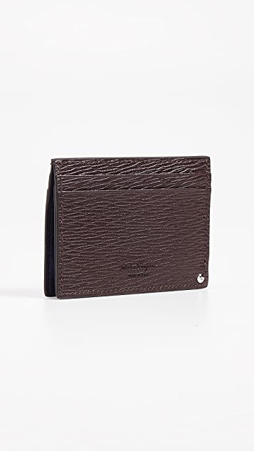Salvatore Ferragamo Card Case with Contrast Swivel ID Window