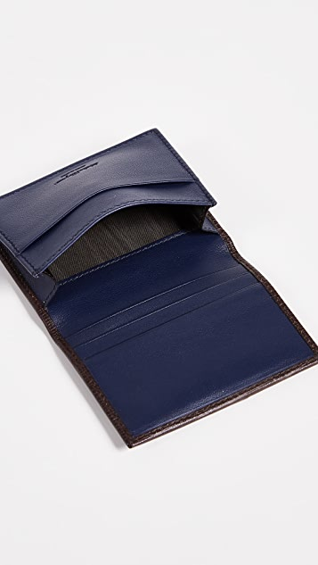 Salvatore Ferragamo Revival Gancini Interior Contrast Folded Card Case
