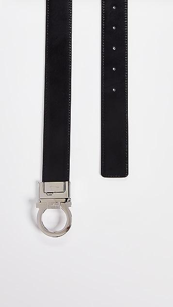 Salvatore Ferragamo Single Gancini Reversible Belt