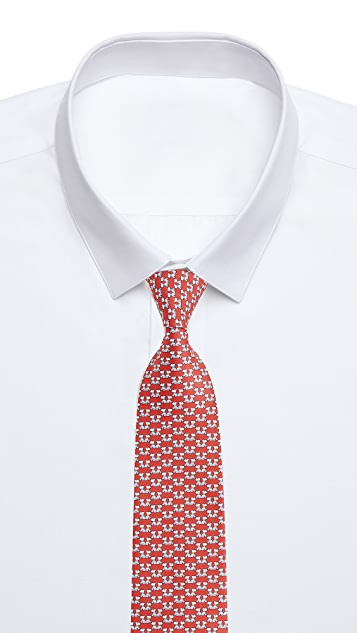 Salvatore Ferragamo Dog Pattern Tie