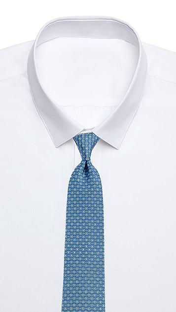 Salvatore Ferragamo Double Gancio Print Tie