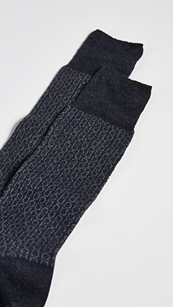 Salvatore Ferragamo Full Gancio Socks