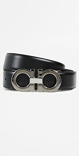 Salvatore Ferragamo - Large Double Gancio Reversible Belt