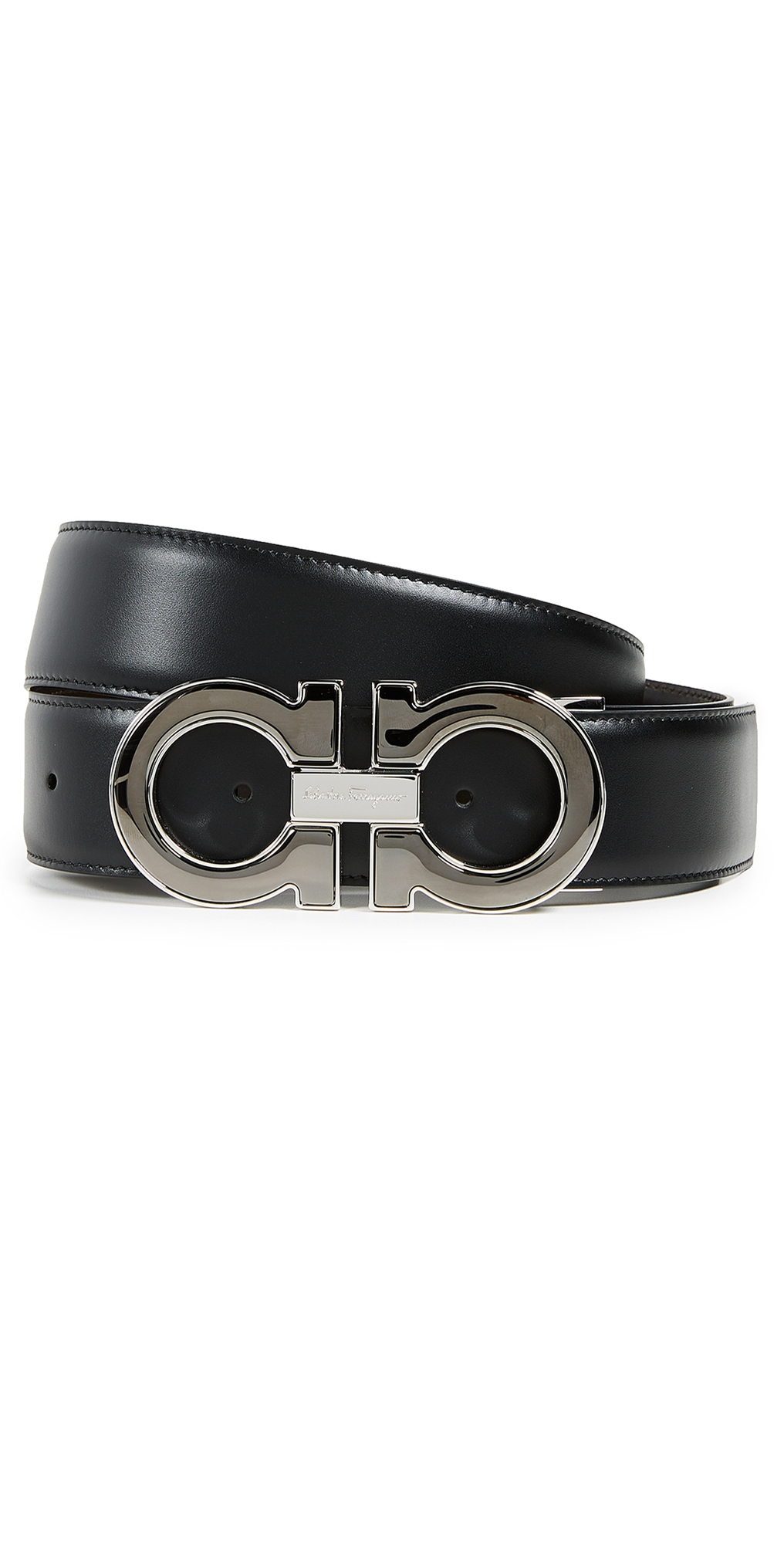 Salvatore Ferragamo Large Double Gancio Reversible Belt