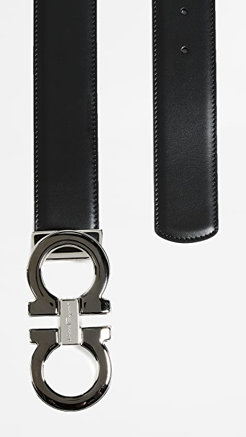 Salvatore Ferragamo Large Double Gancio Reversible Belt