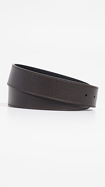 Salvatore Ferragamo Gunmetal Double Gancio Belt