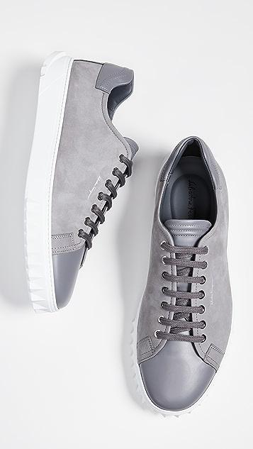 Salvatore Ferragamo Cube Low Top Sneakers