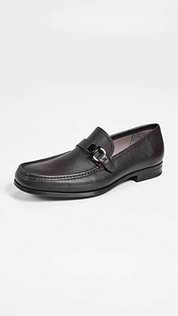 Salvatore Ferragamo Adam Single Side Gancio Loafers