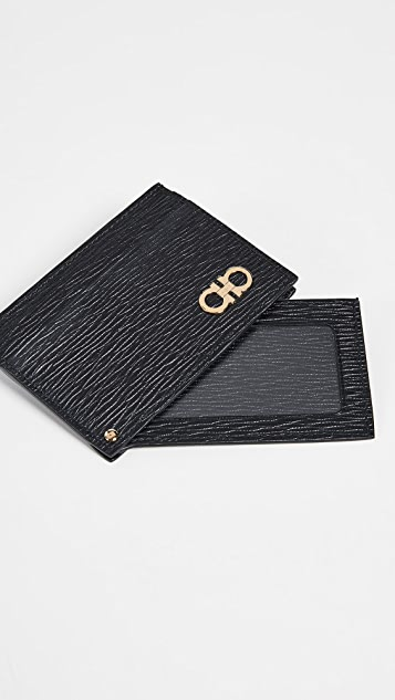 Salvatore Ferragamo Card Case with Swivel ID Window