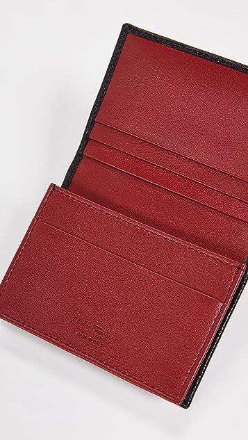 Salvatore Ferragamo Revival Gancio Bi-Color Card Case