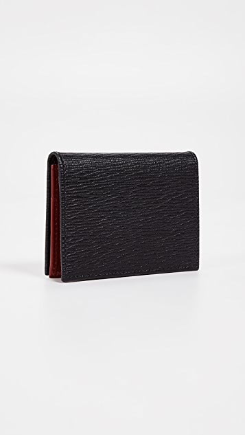Salvatore Ferragamo Revival Gancio Bi-Color Card Case